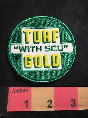 "TURF GOLD ""WITH SCU"" Advertising Patch C89X"