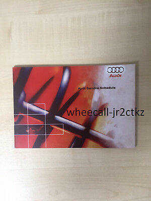 Audi Service Book, Brand New And Genuine, For All Petrol And Diesel