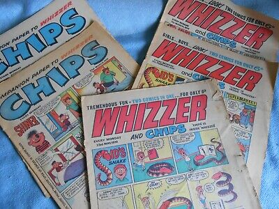 Vintage 1970's UK Comics - Collection of WHIZZER & CHIPS Comics
