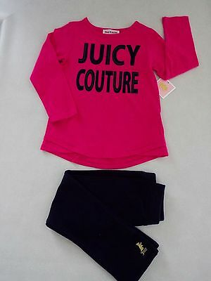 Juicy Couture Toddler Girl 2 pc L/S legging Set 3T New