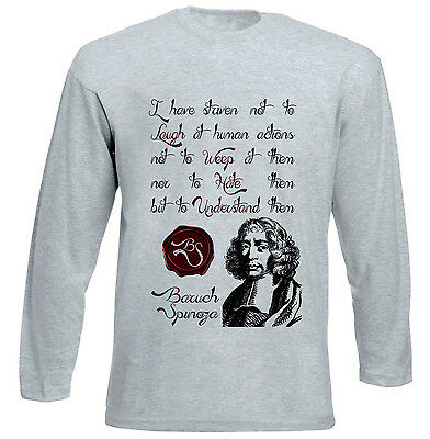 BARUCH SPINOZA HUMAN ACTIONS QUOTE NEW COTTON WHITE HOODIE