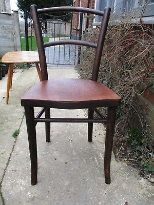 Fab Antique Vintage Bentwood Bistro Cafe Chair Mundus and J & J Kohn Poland