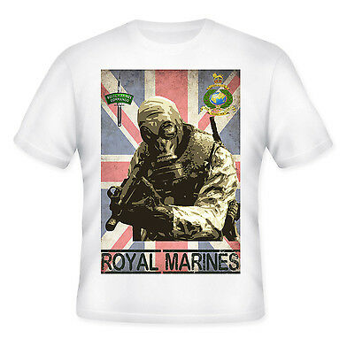 Royal Marine Commando Special Forces - New White Cotton Tshirt