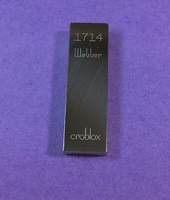 Gage Gauge Block Rectangle Webber Croblox .1714