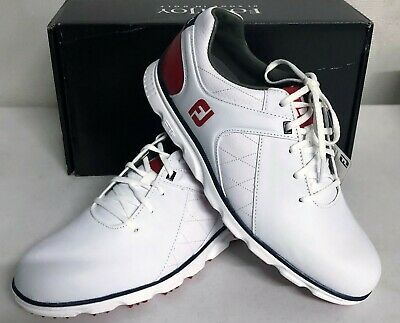 cheap for discount size 40 competitive price FOOTJOY PRO/SL MENS Golf Shoes - White Red Blue - #53243 ...