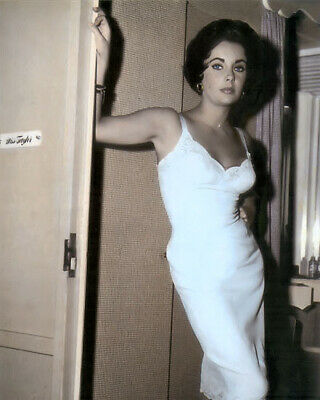 """ELIZABETH TAYLOR ACTRESS CAT ON A HOT TIN ROOF 8x10"""" HAND COLOR TINTED PHOTO"""
