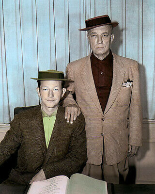 """DONALD O'CONNOR BUSTER KEATON HOLLYWOOD ACTORS 8x10"""" HAND COLOR TINTED PHOTO"""