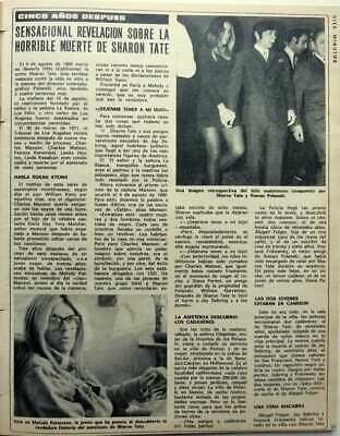 SHARON TATE => 2 pages 1974 Spanish CLIPPING / COUPURE DE PRESSE