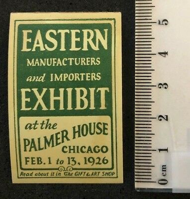 poster stamp United States America Chicago Manufacturers Importers Exhibit **
