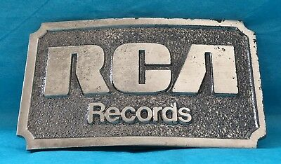 VTG 1976 Limited Edition **RCA RECORDS* Silver BELT BUCKLE- Lewis American Music