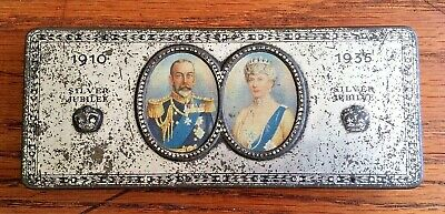 1935 Silver Jubilee GEORGE V & QUEEN MARY COMMEMORATIVE TIN Rowntree & Co, York