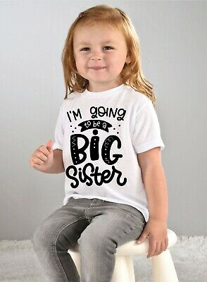 I'm going to be a big brother or big sister kids boys girls t shirt tee