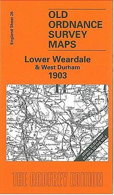 Old Ordnance Survey Map Lower Weardale & West Durham 1903