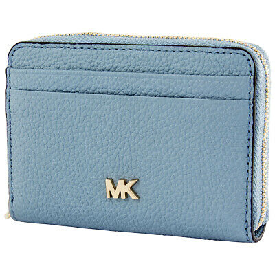 5bc4a6426aef Michael Kors Small Pebbled Leather Wallet- Powder Blue 32F8TF6Z0L-424