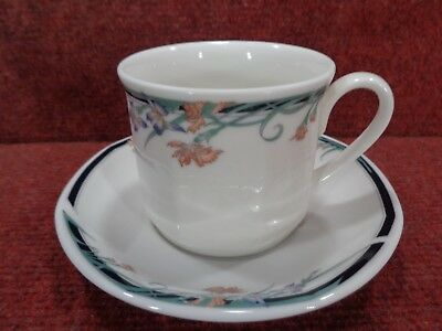 """ROYAL DOULTON """" JUNO """"  Floral TEA CUP AND SAUCER"""