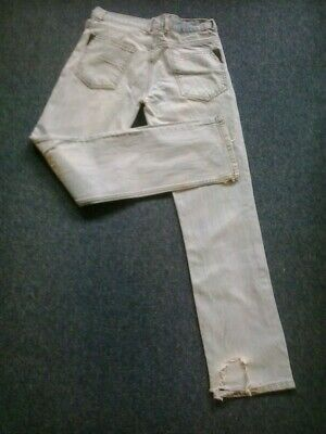 """Hugo Boss Orange Label Distressed Ripped Faded And Torn Jeans 30"""" Waist 32"""" Leg"""