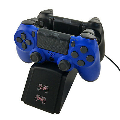 For PS4 Dual Controller Fast Charger Base LED Charging Dock Station Game Stand