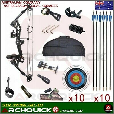 Archery Compound bow Package 30-55lbs Hunting Practice Target Basic Kits