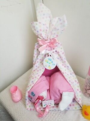 Sleeping Baby Blanket Canopy Bed Diaper Cake Baby Shower Centerpiece - Boy Girl