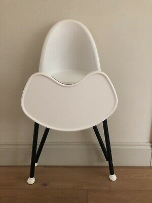baby bjorn high chair white - foldable - detachable legs