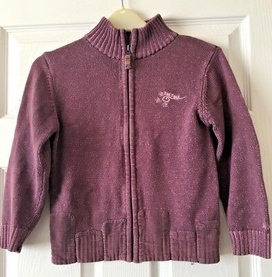 Girls Fat Face Purple Zip Up Casual Everyday Jacket Autumn Winter 6-7 Years B55