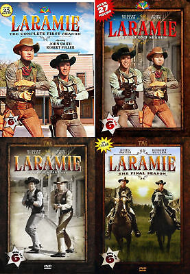 Laramie Complete TV Series All 1-4 Seasons Box DVD Set Collection Episodes Show
