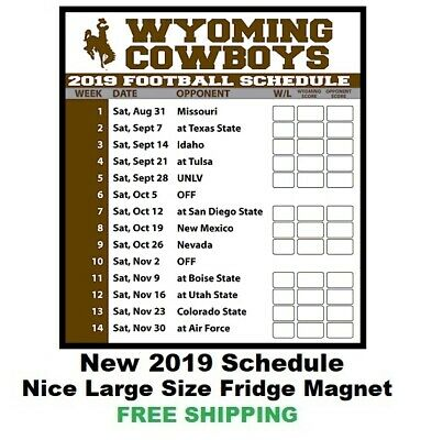 2f18fe95 WYOMING COWBOYS 2019 NCAA Football Schedule - Large Size #176