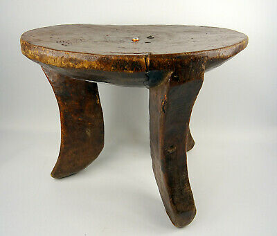 ÄTHIOPIEN GURAGE TRADITIONELLER HOCKER HOLZ STOOL WOOD TABURET BOIS  djenne001