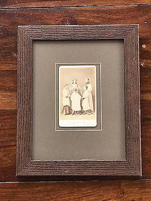 Antique 1870's Wooden Framed Real Photograph by W& A.H. FRY Brighton Signed