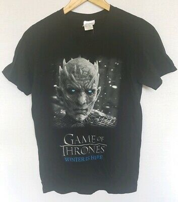 Game Of Thrones Official HBO Winter is Here Night King T-Shirt GOT Size S