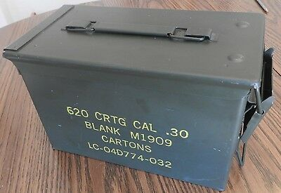 Ammo Can Box US Military M2A1 30 Cal VFW BLANKS Metal Storage  CLEAN