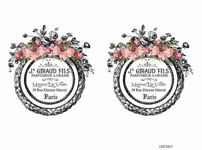 VinTaGe IMaGe FRenCh PaRiS LaBeLs ShaBby WaTerSLiDe DeCALs TRaNsFeRs FL4