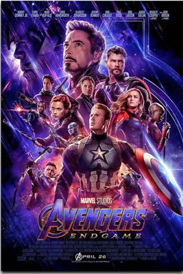 Avengers Endgame Superheroes Movie Silk Poster- Ironman, Captain Marvel, Thor