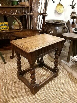 Nice Victorian Oak Stool Joint Stool Coffee Lamp Table