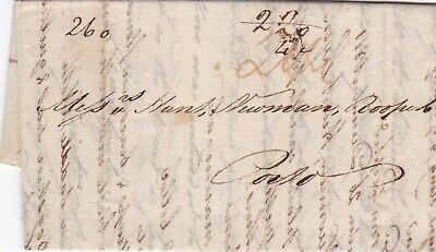 GB London 1811 Entire Letter to Oporto Portugal Paid 2s4d Peninsular War Period