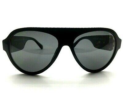 31285ac813c0 Versace MOD 4323 GB1 81 Aviator Pilot Black Gray Polarized Sunglasses 58-15-