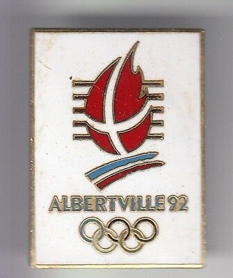 RARE PINS PIN'S .. OLYMPIQUE OLYMPIC ALBERTVILLE 92 LOGO 22x32 MM COJO EMAIL ~17