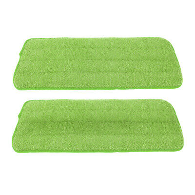 2 Pack Free Hand Washing Spray Mop Cloths/Pads, Polyester Fiber, Green