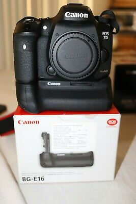 Canon EOS 7D Mark II 20.2MP Digital SLR Camera - Black (Body with  Battery Grip)