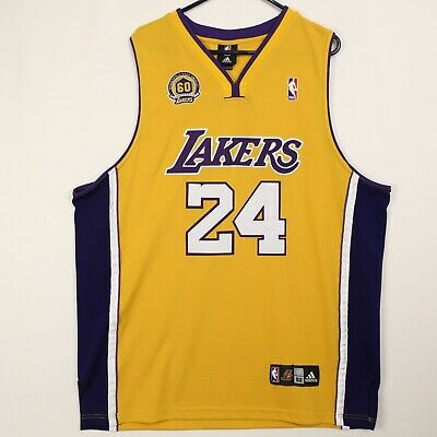 2e1aabb4d5f Adidas Los Angeles Lakers Kobe Bryant Jersey 60th Anniversary Mens 52  Stitched