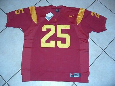 ae2ee6455 USC Trojans Nike authentic cardinal   gold jersey size 52   25 Justin Fargas