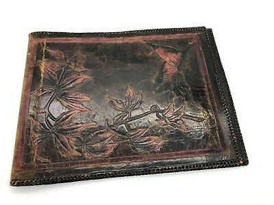 Beautifully Hand Crafted Vintage Leather Embossed Book Cover