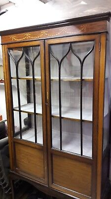 Original Edwardian antique display cabinet