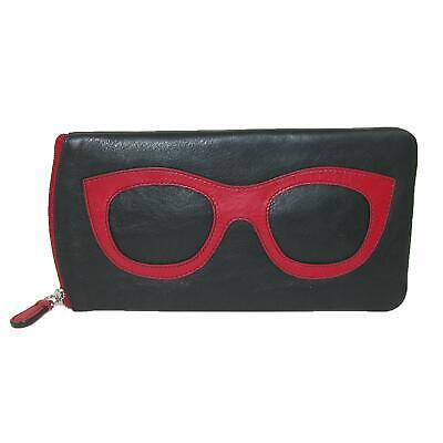 464593d1366 New CTM Women s Leather Eyeglass Case with Eyeglass Design