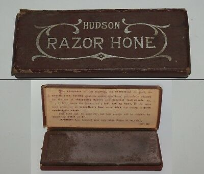 Vintage HUDSON RAZOR HONE Straight Razor Hone with Original Box