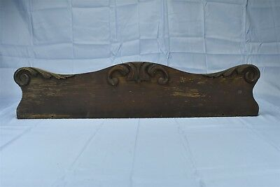 Antique OAK FURNITURE PEDIMENT APPLIED CARVED MOLDING ARCHITECTURAL SALVAGE 6587