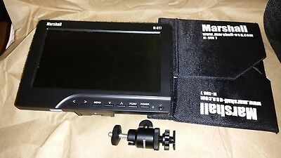 """Marshall M-CT7 on-Camera 7"""" HDMI Field LCD HD Video Monitor w/AA Battery Adapter"""