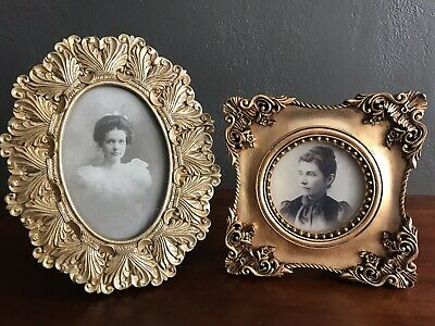 Pair of Antique Portraits in Frames 100 Years Old Beautiful Condition