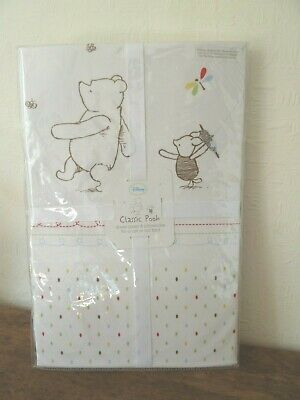 Brand New Mothercare WINNIE THE POOH Duvet Cover & Pilllowcase - Cot or Cot Bed