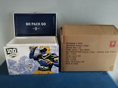 Green Bay Packers miller lite beer cooler ice chest cans bottles lambeau leap